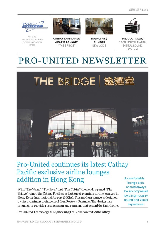 Pro-United Summer 2014 Newsletter